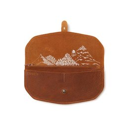 Keecie Wallet Move Mountains Cognac