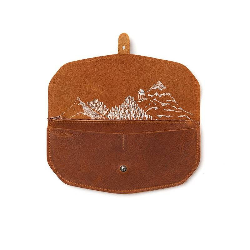 Portemonnaie Move Mountains Cognac
