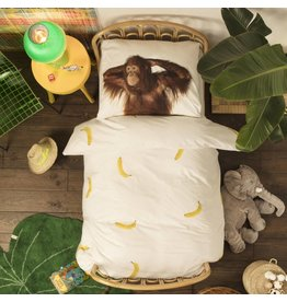 Snurk beddengoed Duvet Cover Banana Monkey Single