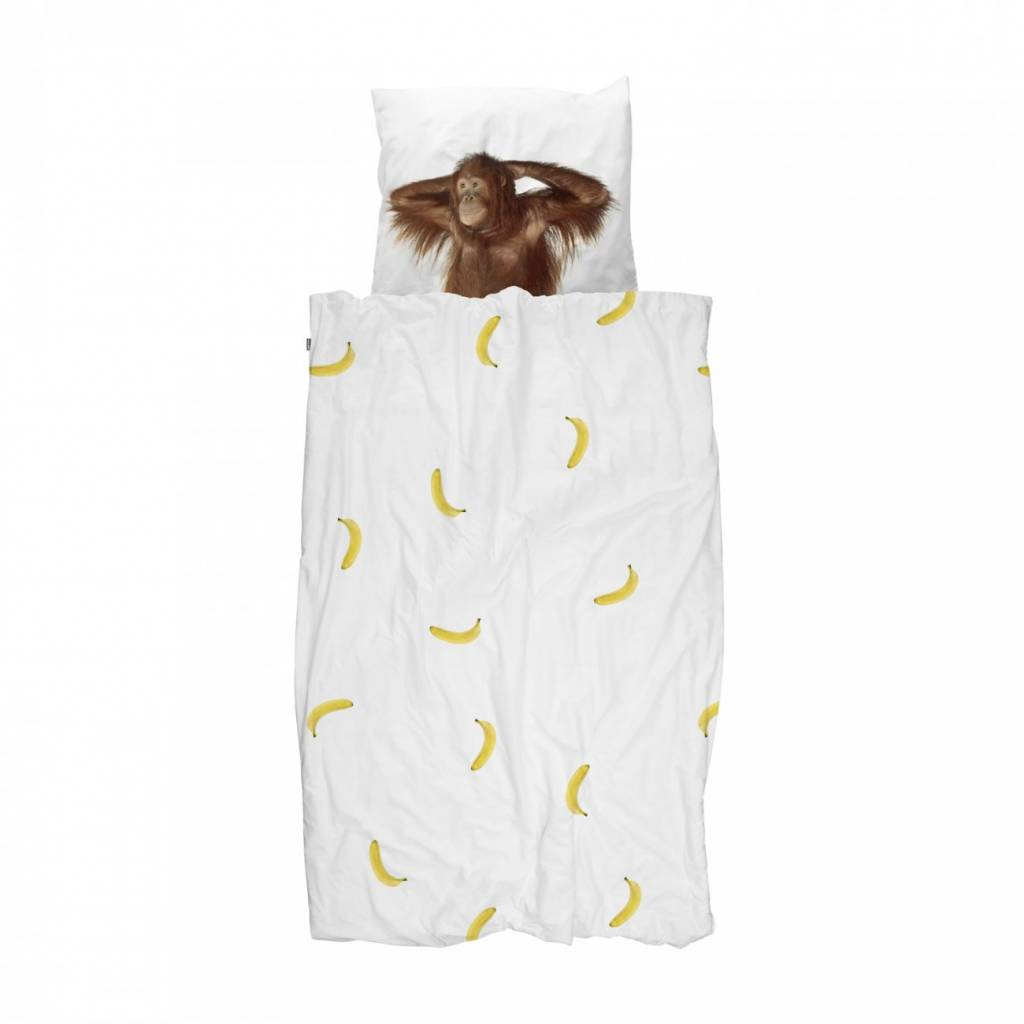 Bettbezug Banane Affe 1-Person