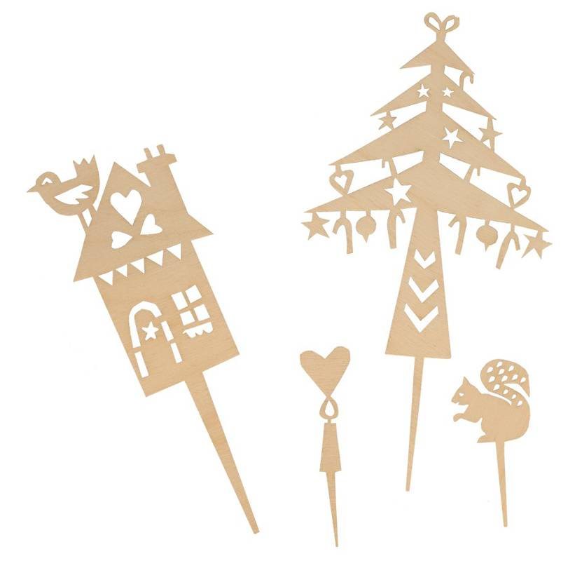 Cake Toppers from Wood Winter