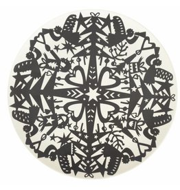 ENGELpunt Bamboe borden set/4 Winter Zwart L