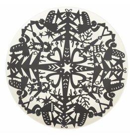 ENGELpunt Bambus Teller Set Winter Schwarz L