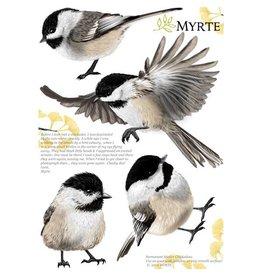 Myrte Wandaufkleber Chickadee