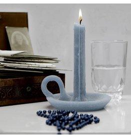 Ontwerpduo Kerze und Kerzenhalter Tallow Petrol Blue