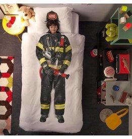 Snurk beddengoed Eenpersoons brandweerman dekbedovertrek