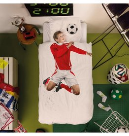 Snurk beddengoed Duvet Cover Soccer Champ Red Single