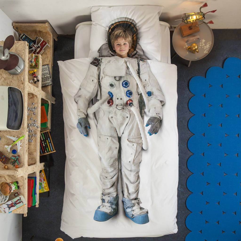 Dekbedovertrek astronaut 1 persoons