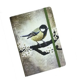 Myrte Notebook With Great Tit Illustration