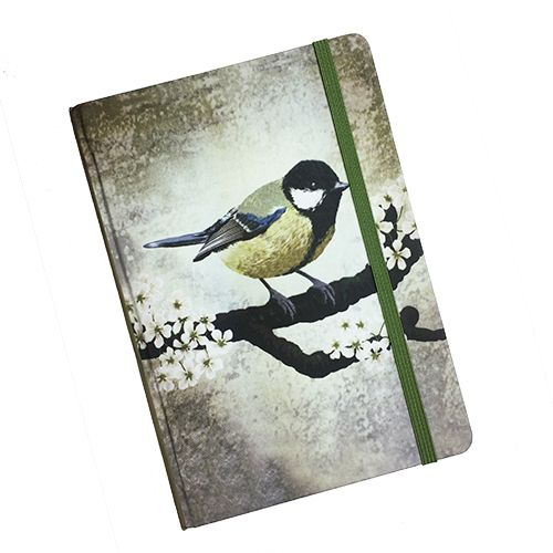 Notebook With Great Tit Illustration