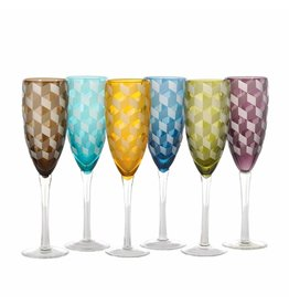 Pols Potten Champagnergläser Blocks Multicolour 6er Set