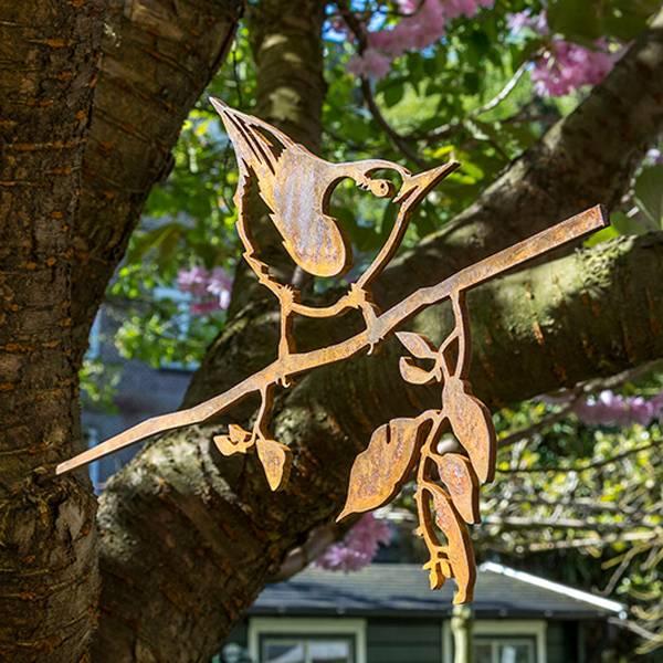 Vogelsilhouet Boomklever