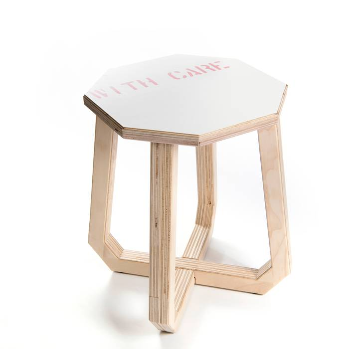 Stool / Side Table made of Transport Boxes