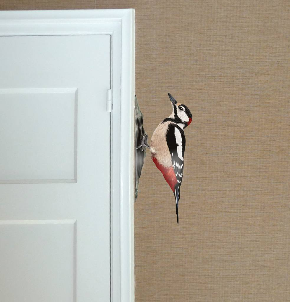 Wall sticker Woodpecker Set of 2