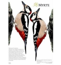Myrte Muursticker Specht set/2