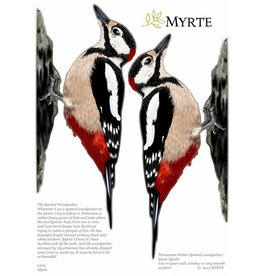 Myrte Wall sticker Woodpecker Set of 2