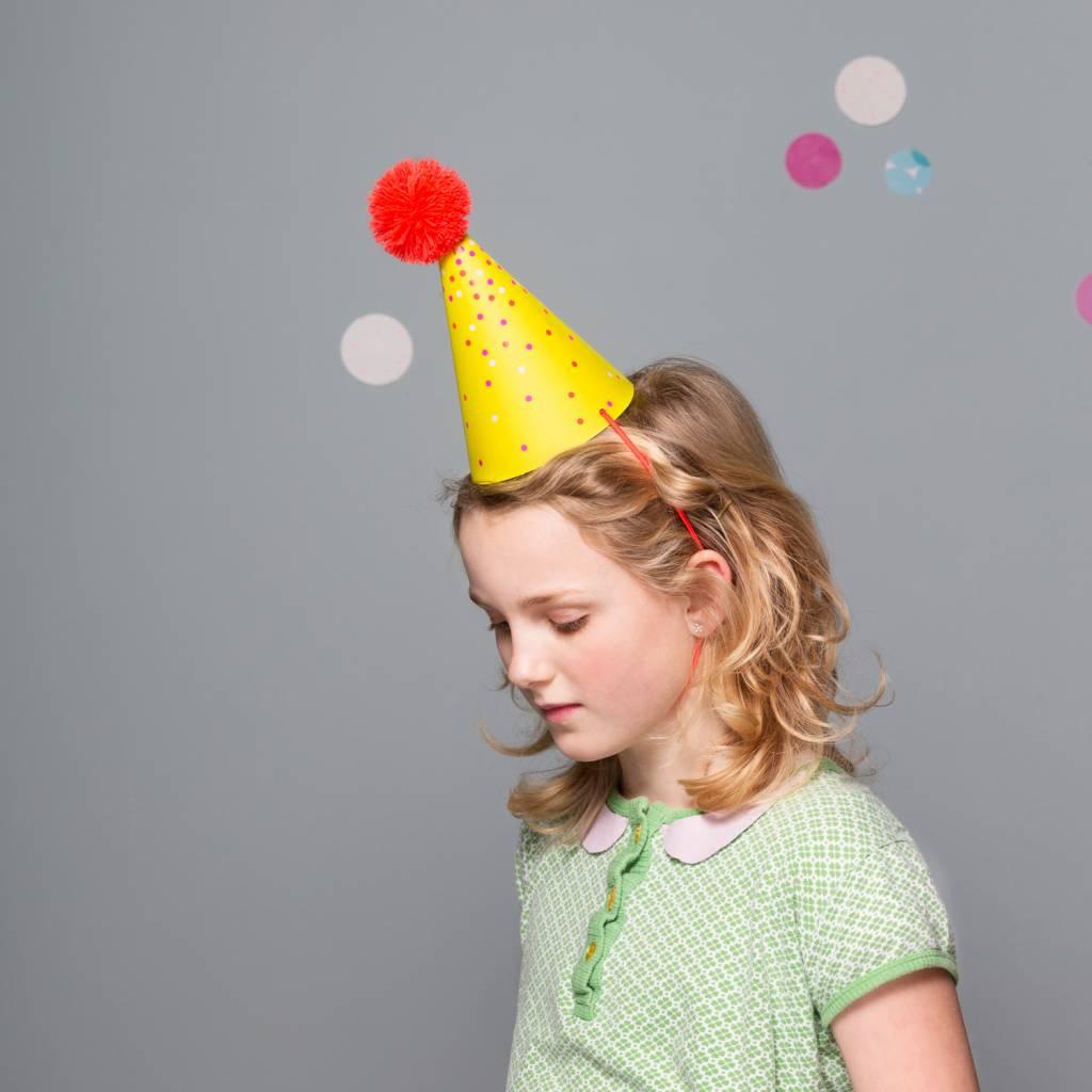 Postcard Party Hat Dots