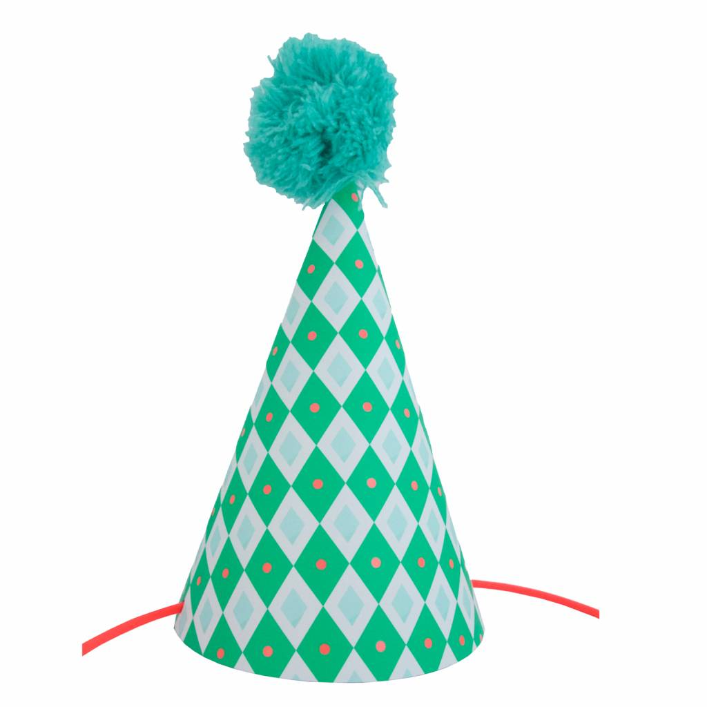 Postcard Party Hat Checkered