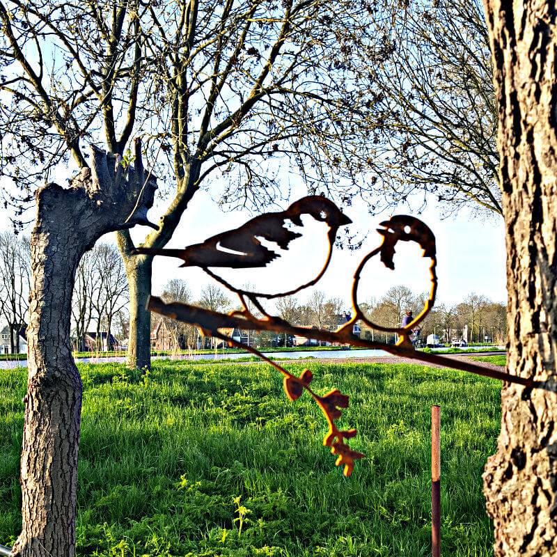 Vogel Silhouette Spatzen