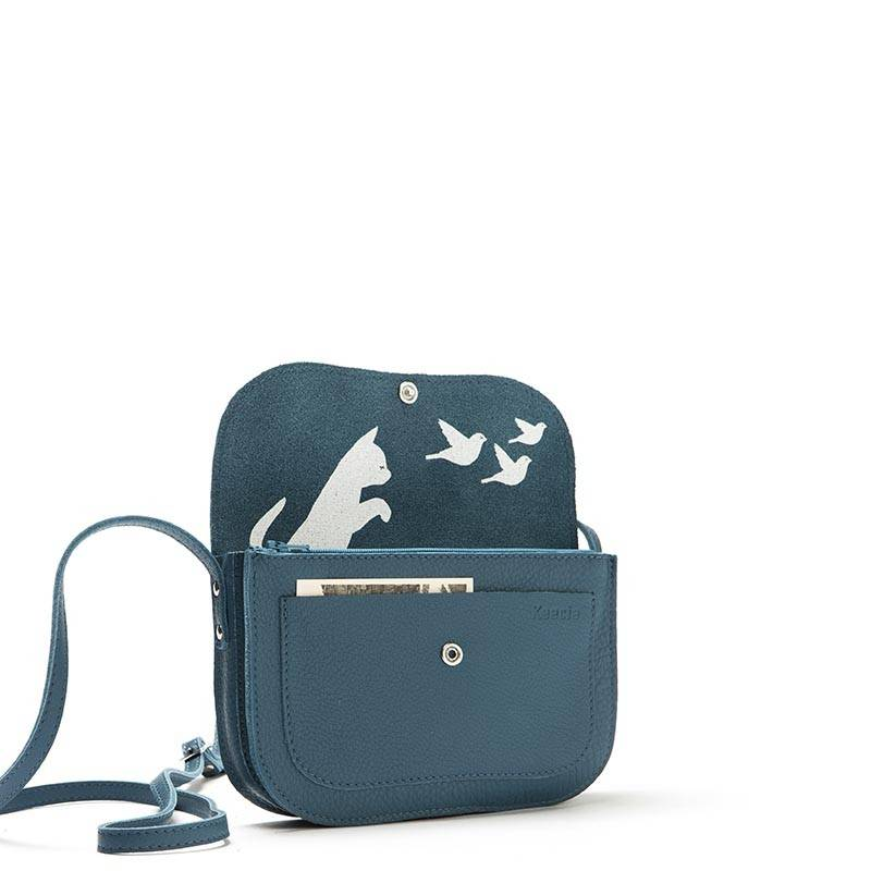 Tas Cat Chase Faded Blue