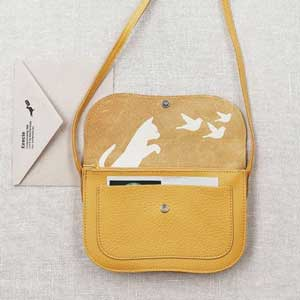 Keecie Cat Chase bag Yellow