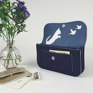 Keecie Cat Chase wallet darkblue
