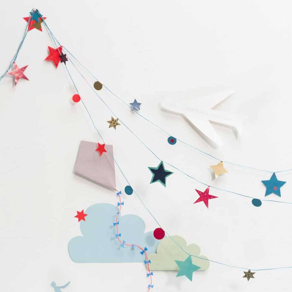DIY Garland Stars Blue