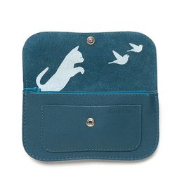 Keecie Wallet Cat Chase Faded Blue