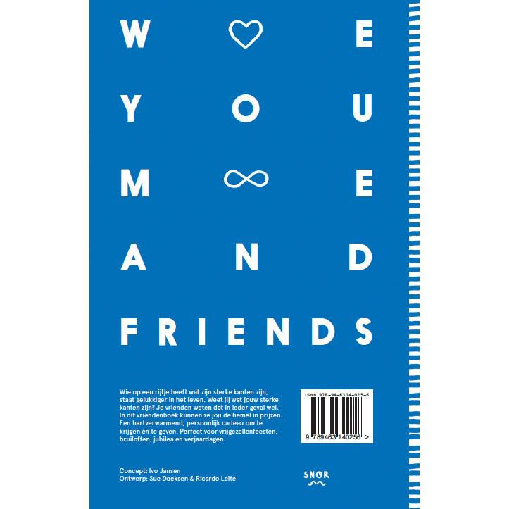 We love you - Friends book for adults Dutch