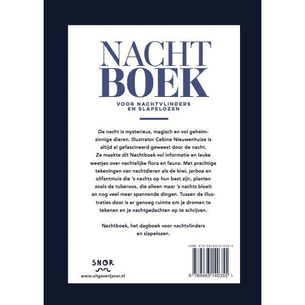 Nightbook - Diary for the night Dutch