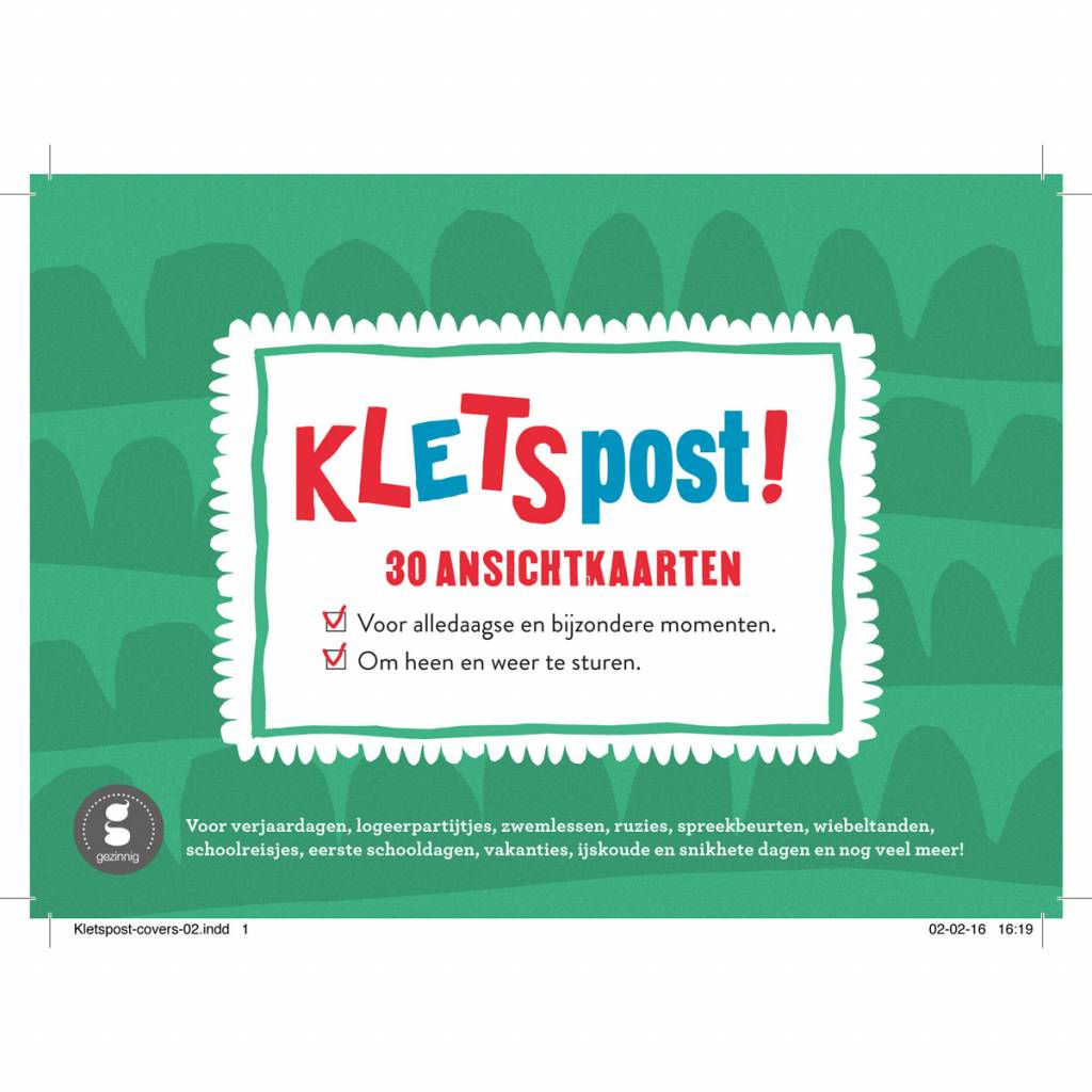 Kletspost postcards Dutch