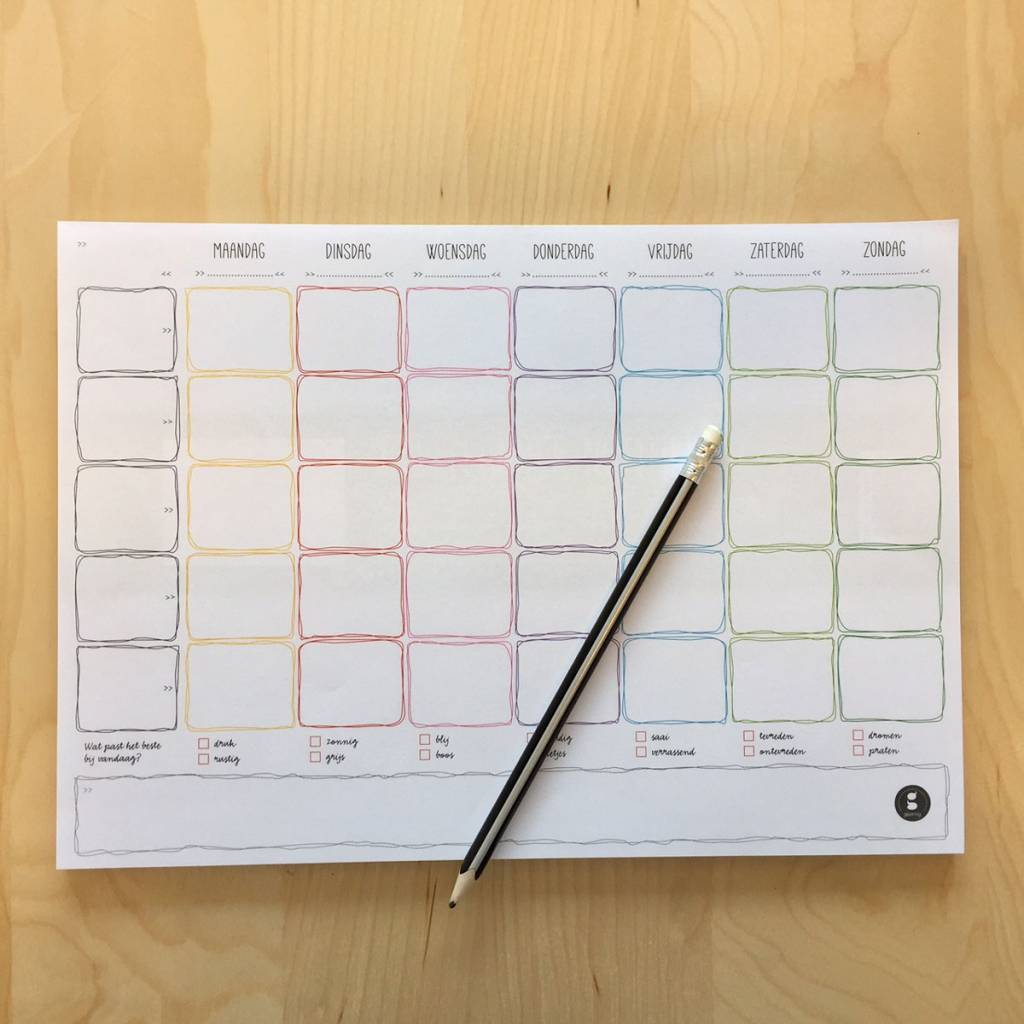 Weekly planner notepad Dutch