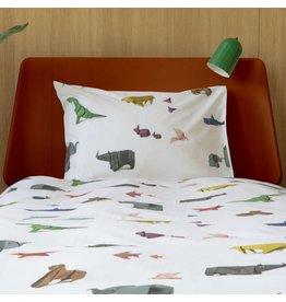 Snurk beddengoed Dekbedovertrek Paper Zoo 1 persoons
