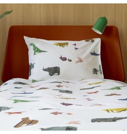 Snurk beddengoed Duvet cover Paper Zoo 1 person