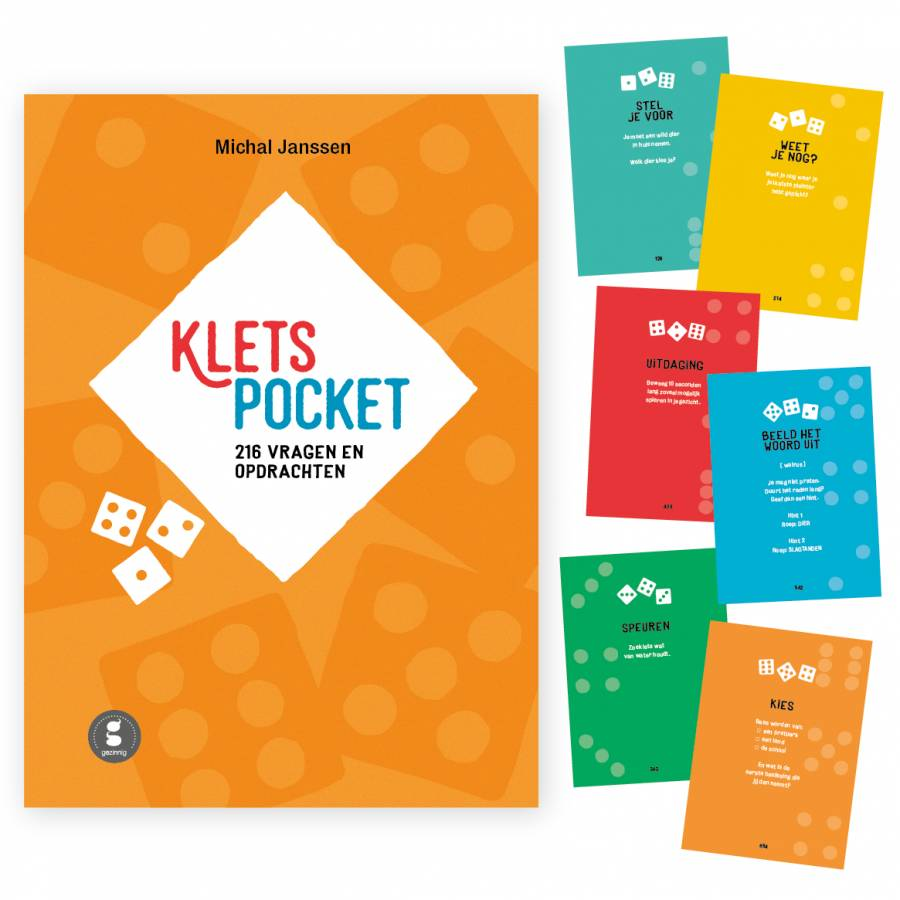 Kletspocket with 216 questions and assignments Dutch