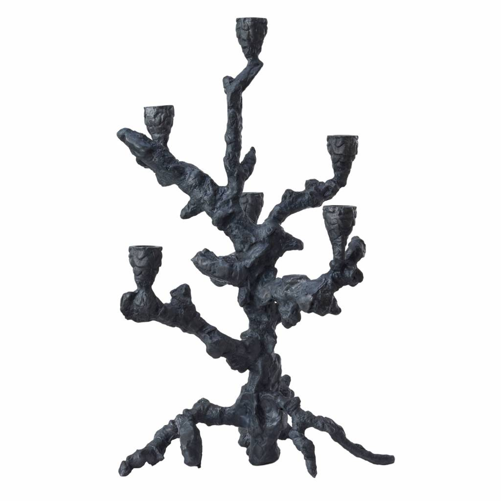 Candle Holder Apple Tree Graphite