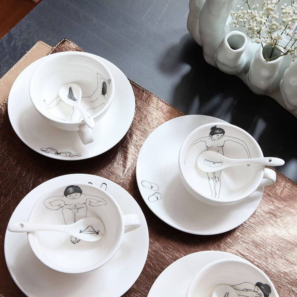 Undressed Teaset Set of 4