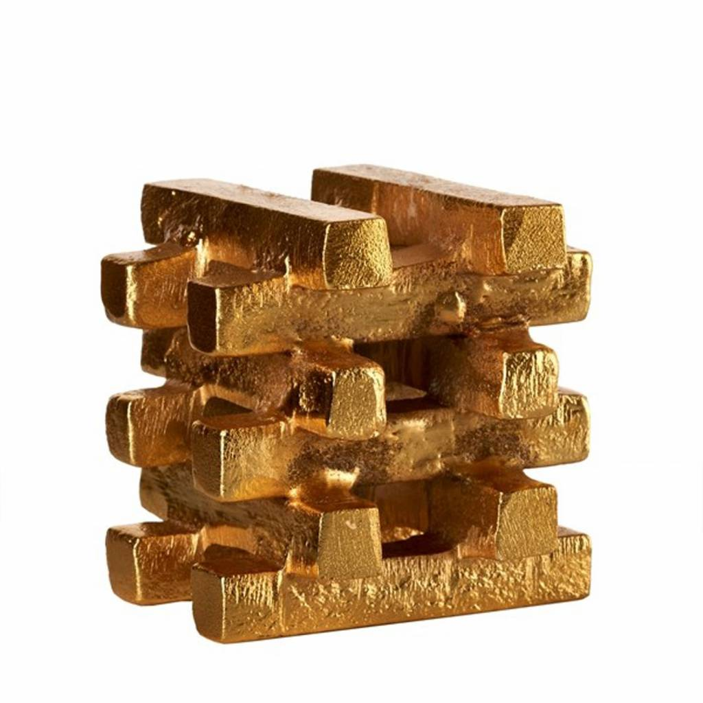 Kandelaar Stacked Gold Bars S