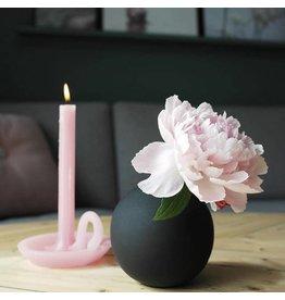 Ontwerpduo Kaars en Kandelaar Tallow Blossom Pink