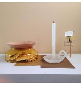 Ontwerpduo Candle and Candlestick Tallow Soft White