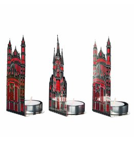 Pols Potten Waxinelicht Churches Red Light Set/3