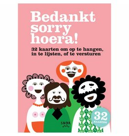 Uitgeverij Snor Thanks Sorry Hurray! Greeting Cards (NL)