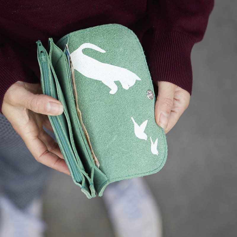 Wallet Cat Chase Forest
