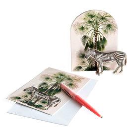 Studio ROOF Pop-Out-Karte Tropischer Zebra