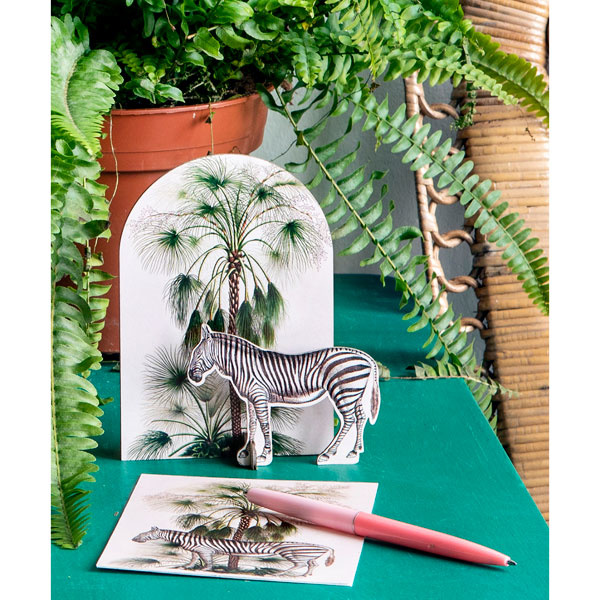Pop-out kaart Tropical Zebra