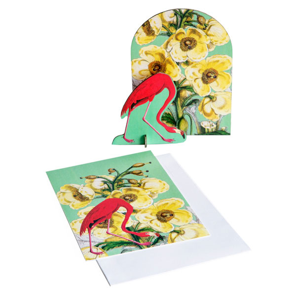 Pop-Out-Karte Romantic Flamingo