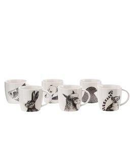 Pols Potten Animal mugs set / 6