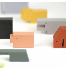 Ikonic Toys Houten gekleurde dieren set/13