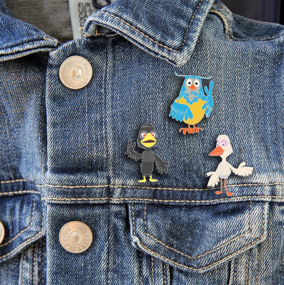 Fräulein Stork Pin