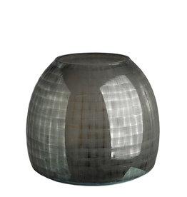 Pols Potten Vase kariertes Grau